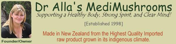 Dr Allas Natural Health Supplements Are Sold By MediMushrooms International Ltd