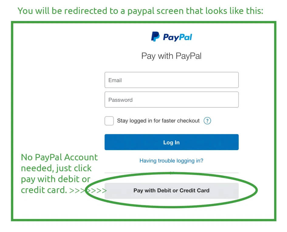 No Account Needed For PayPal Payments To MediMushrooms International Ltd